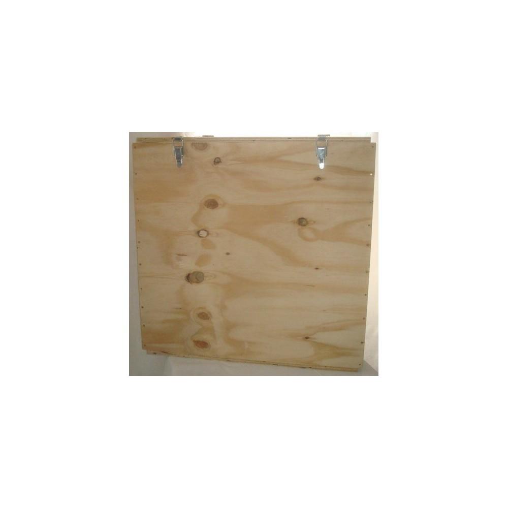 caisse bois de transport pour ventilateur blower door d'infiltrométrie