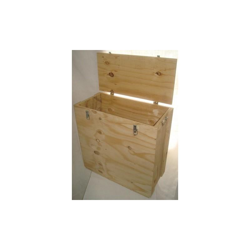 Caisse bois pour le transport en toute sécurité des ventilateurs d'infiltrométrie Blower Door Minneapolis et Retrotec.