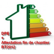 DPE neuf + Attestation fin de chantier RT2012, pack comprenant la validation de votre logement vis à vis de la RT2012.