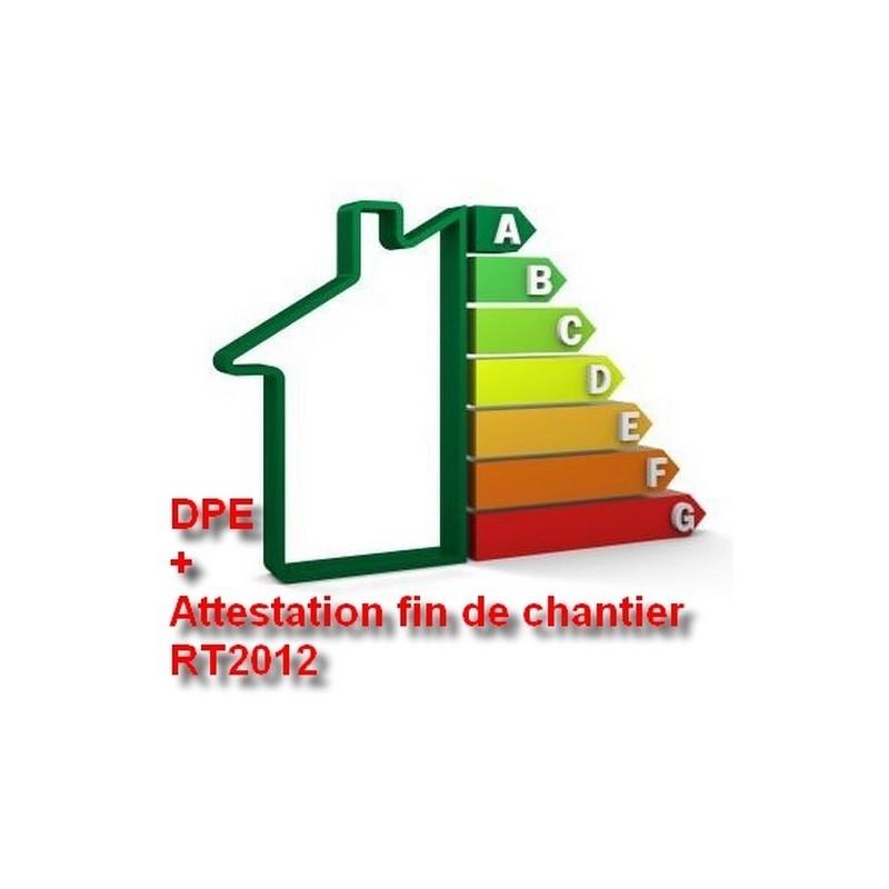 DPE neuf + Attestation fin de chantier RT2012, pack comprenant la validation de votre logement vis à vis de la RT2012.