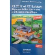 Livre RT2012 et RT Existant. Vue de face.