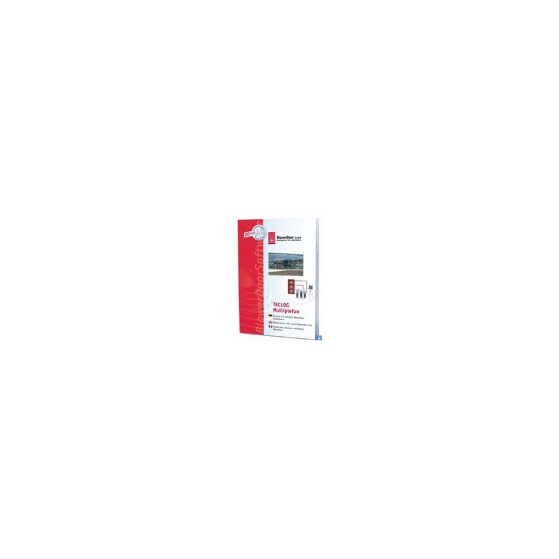 Logiciel Blower Door TECLOG 3, vue de face du logiciel pour les tests multiventilateur.