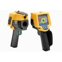 Camera thermique Fluke FLK-TiR1, vue avant et arrière. Matériel pour les professionnels du batiment et en infiltrométrie RT2012.