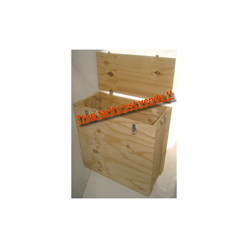 Caisse bois pour ventilateur d'infiltrométrie Blower Door. Idéale pour le transport de votre ventilateur lors de l'étalonnage. T