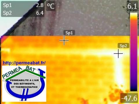 Pont thermique sur mur de refend et plancher d\'étage