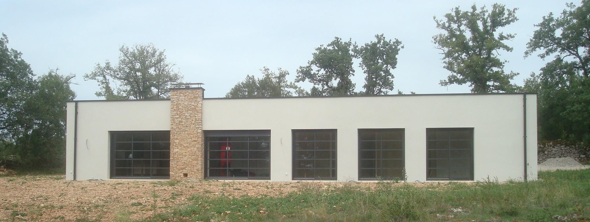 Test d'infiltrométrie réalisé sur une maison à Reyrevignes dans le Lot.